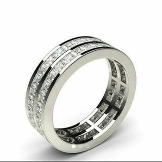 [高品質]モアサナイト フルエタニティ リング(リング(指輪))