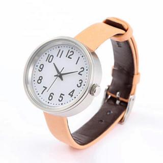 ムジルシリョウヒン(MUJI (無印良品))の【新品】MUJI WRIST WATCH 腕時計・公園の時計・大 バンド:ヌメ革(腕時計(アナログ))