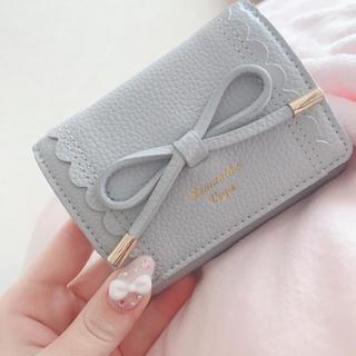 サマンサベガ(Samantha Vega)のサマンサベガ3つ折り水色財布(財布)