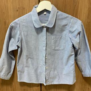 ムジルシリョウヒン(MUJI (無印良品))の無印良品 オックスフォードシャツ 美品120(ブラウス)