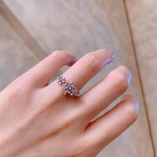 リリーブラウン(Lily Brown)の#2 Flower ring purple×white(リング(指輪))