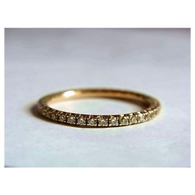 DE BEERS(デビアス)のデビアスDEBEERSフルエタニティ ダイヤk18金リング指輪10.5号750 レディースのアクセサリー(リング(指輪))の商品写真