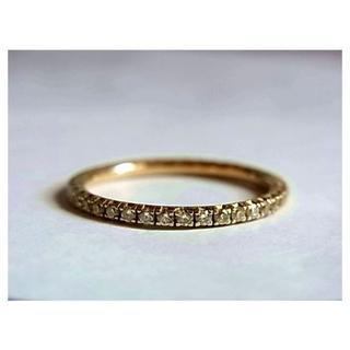 DE BEERS - デビアスDEBEERSフルエタニティ ダイヤk18金リング指輪10.5号750