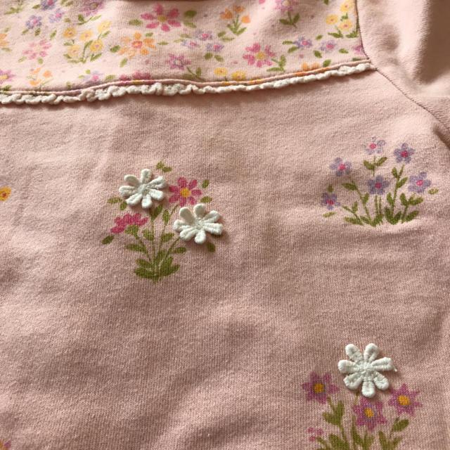 Souris(スーリー)のsouris フラワートレーナー 100 キッズ/ベビー/マタニティのキッズ服 女の子用(90cm~)(Tシャツ/カットソー)の商品写真