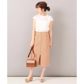 ノーブル(Noble)のダブルクロス フープジップタイトスカート 34 オレンジ 新品 ノーブル(ロングスカート)