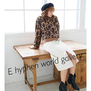 イーハイフンワールドギャラリー(E hyphen world gallery)のレオパード柄 トレーナー (トレーナー/スウェット)