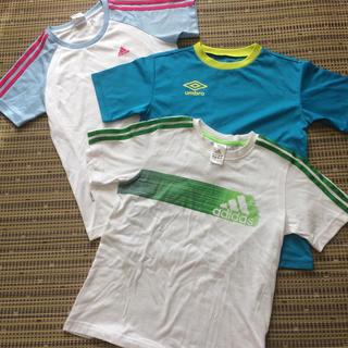 adidas - アディダス、umbro キッズTシャツ 3枚