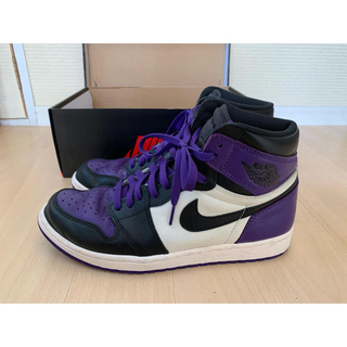 ナイキ(NIKE)のNIKE AirJordan1 RETRO court purple 28cm(スニーカー)