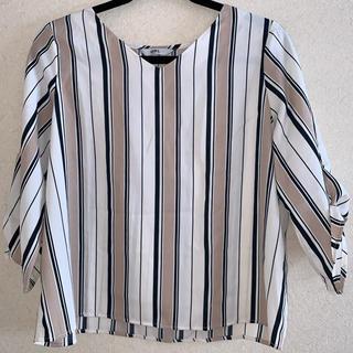 グレイル(GRL)の《GRL》マルチストライプ袖リボンシャツ(シャツ/ブラウス(長袖/七分))