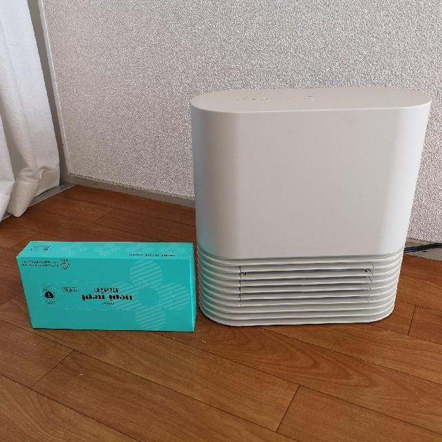 ±0(プラスマイナスゼロ)の±0 プラスマイナスゼロ セラミックファンヒーター XHH-Y030 スマホ/家電/カメラの冷暖房/空調(電気ヒーター)の商品写真