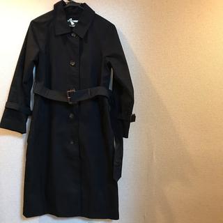 ミスティウーマン(mysty woman)のミスティウーマン  ステンカラー コート 黒 Sサイズ(ロングコート)
