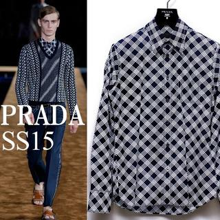 PRADA 2015SS LOOK 27 0番ステッチシャツ size 39