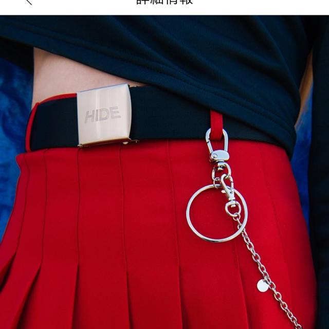 mixxmix(ミックスエックスミックス)のシックムードチェーンキーリング HIDE ハンドメイドのアクセサリー(リング)の商品写真