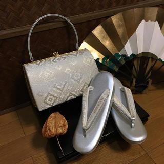 草履バッグセット✨紗織 礼装兼用可 Lサイズ (少々難あり)(着物)