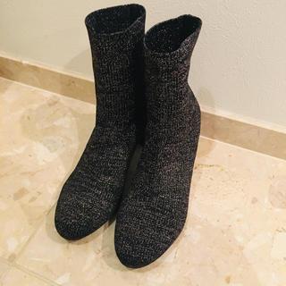 ユナイテッドアローズ(UNITED ARROWS)のユナイテッドアローズ ストレッチブーツ38サイズ ソックスブーツ ショートブーツ(ブーツ)
