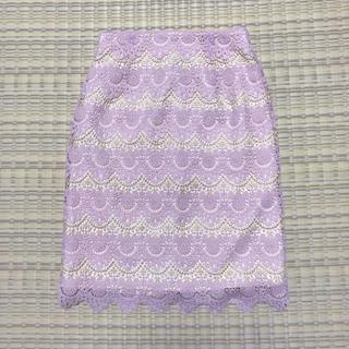 MERCURYDUO - 【MERCURYDUO】配色レースタイトスカート