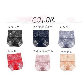 6色セット&ハイウエスト&高伸縮性抜群*高品質の綿糸*セクシーレースショーツ(ショーツ)