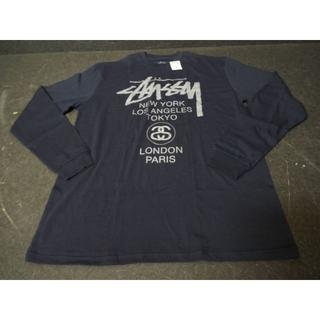 ステューシー(STUSSY)の【新品】ステューシー ワールドツアー ロゴ ロンT MB830(Tシャツ/カットソー(七分/長袖))
