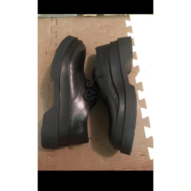 Jil Sander(ジルサンダー)のjil sander  ITALY 厚底ドレスシューズ ブラック レザー ソール メンズの靴/シューズ(ドレス/ビジネス)の商品写真