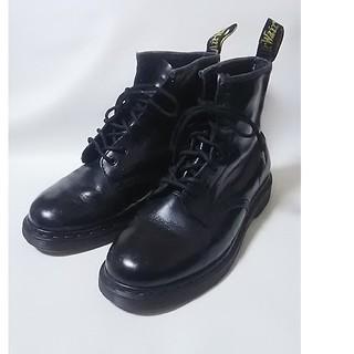 Dr.Martens -  絶対王道!ドクターマーチン高級8ホールブーツ人気ビンテージ黒!25