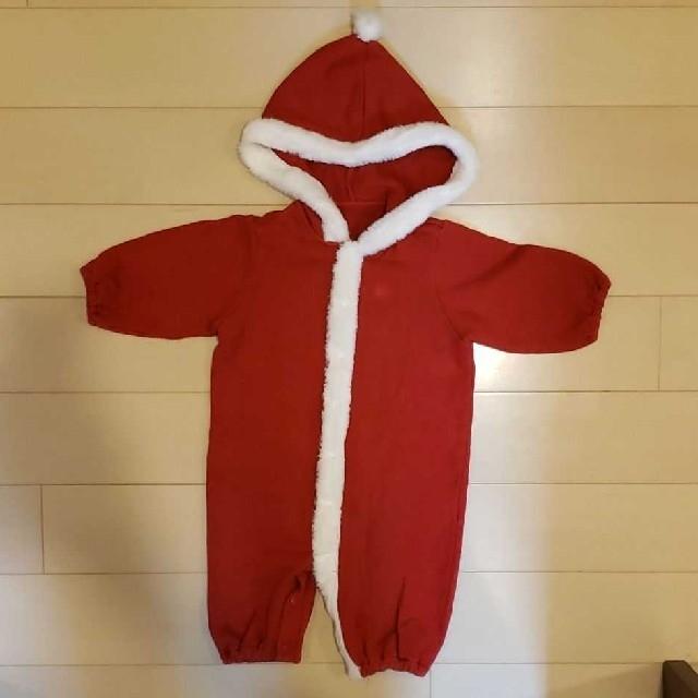 COMME CA ISM(コムサイズム)のCOMME CA ISM カバーオール 赤 50-70cm キッズ/ベビー/マタニティのベビー服(~85cm)(カバーオール)の商品写真