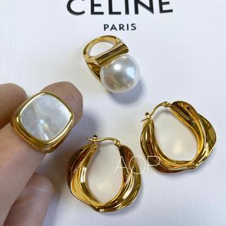 TOMORROWLAND - celine セリーヌ シグネットリング 天然貝