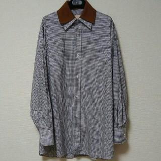 マルニ(Marni)のplan c プランシー 2019SS  ビッグシルエットチェックシャツ 36(シャツ/ブラウス(長袖/七分))