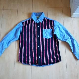 シマムラ(しまむら)のシャツ カットソー 130 ストライプ ジャケット フォーマル スーツ パンツ(ブラウス)