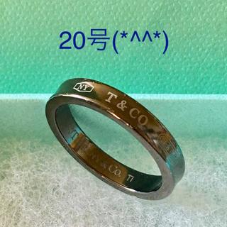 ティファニー(Tiffany & Co.)の値下げ ティファニーブラックチタンリング 20号(*^^*)(リング(指輪))