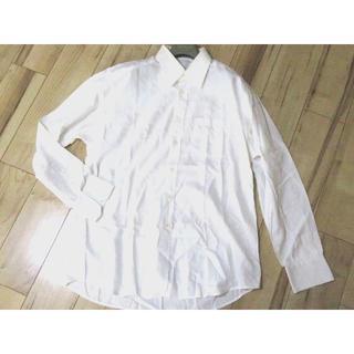 Gucci - GUCCI Yシャツ 長袖シャツ 42/16 ドレスシャツ ホワイト メンズ