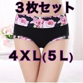 3枚セット 5L  4XL  大きいサイズ ショーツ プラスサイズ  レディース(ショーツ)
