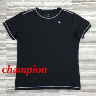 チャンピオン(Champion)のchampion ブラック Tシャツ さらっと素材(Tシャツ(半袖/袖なし))