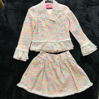 ロニィ(RONI)のRoni モール ツイード スーツ L  ロニィ シャネルスーツ(ドレス/フォーマル)
