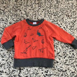 ハッカベビー(hakka baby)の美品 ハッカベビー トレーナー 80 恐竜(トレーナー)