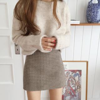 snidel - simple check skirt