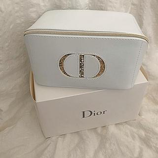 クリスチャンディオール(Christian Dior)のディオール ポーチ シロ ホワイト キラキラ ゴールド 限定(ポーチ)