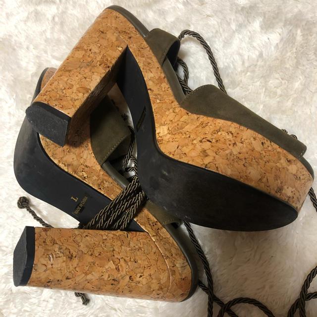 SLY(スライ)のSLY レースアップ 編み上げサンダル レディースの靴/シューズ(サンダル)の商品写真
