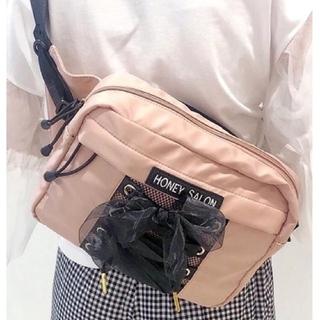 Honey Salon - 【新品 未使用】ハニーサロン オーガンジー 2way ボディバッグ ピンク