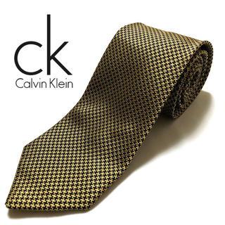 Calvin Klein - 【美品】Calvin Klein ネクタイ イタリア製 ブラウン