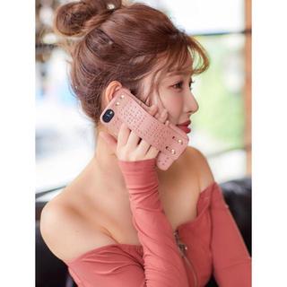 エイミーイストワール(eimy istoire)の完売品!Darich darling studs iPhone case ピンク(iPhoneケース)