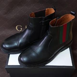 グッチ(Gucci)の【美品】GUCCI チルドレン キッズ ブーツ(ブーツ)