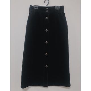 WEGO - 前ボタンコーデュロイナロースカート