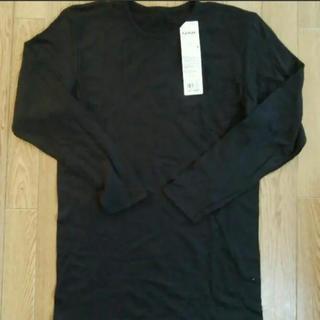 グンゼ(GUNZE)のGUNZE  メンズ  長袖シャツ  ブラック   Lサイズ(Tシャツ/カットソー(七分/長袖))