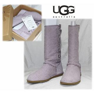 アグ(UGG)の新品◆【アグ 】HEIRLOOM レースアップロングブーツ US8(25cm)(ブーツ)