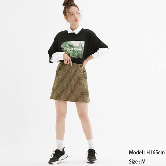 GU(ジーユー)のGU チェックミニスカート レディースのスカート(ミニスカート)の商品写真