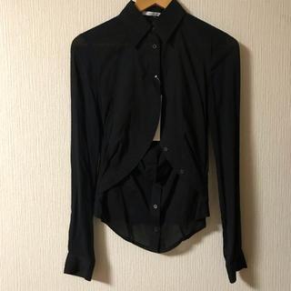 ルシェルブルー(LE CIEL BLEU)の新品‼︎【ENCHANTEMENTE】黒シャツ(シャツ/ブラウス(長袖/七分))