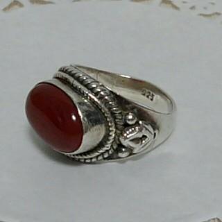 シルバー925 カーネリアンリング(リング(指輪))