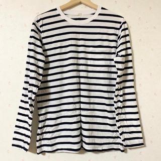 ジーユー(GU)の長袖ボーダーシャツ(Tシャツ(長袖/七分))
