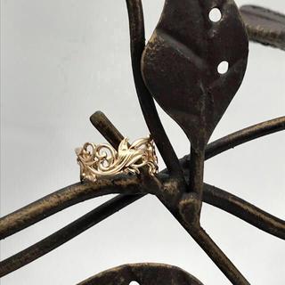 アガット(agete)のagete アガット 透かしピンキーリング(リング(指輪))