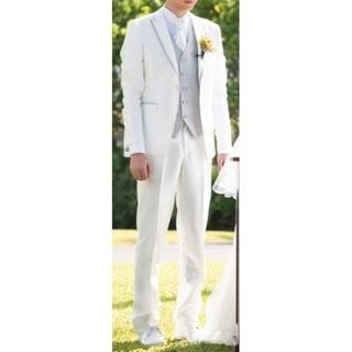 タキシード白 yns wedding「S16-03」セット(その他)
